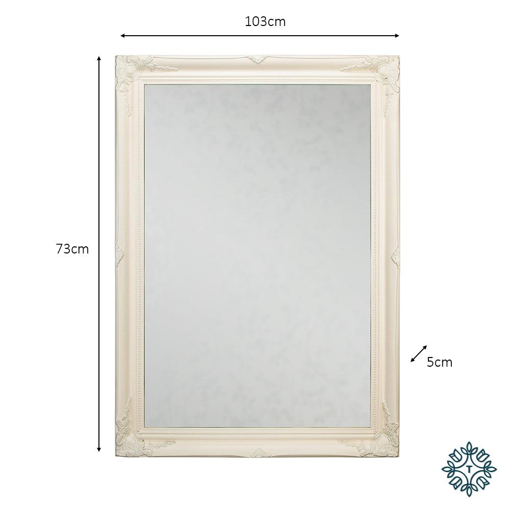 Lyon mirror 60x90cm cream