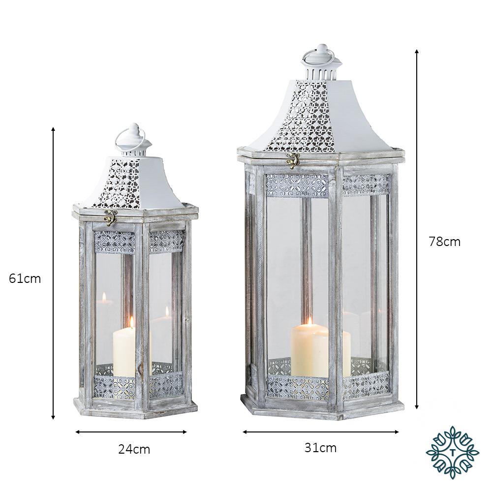 Oxford s/2 lanterns hex grey