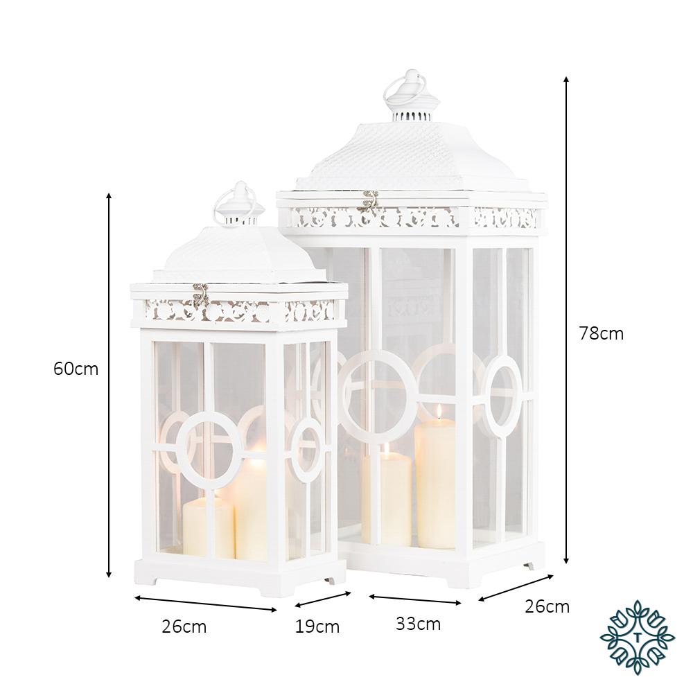 Cambridge lanterns s/2 white