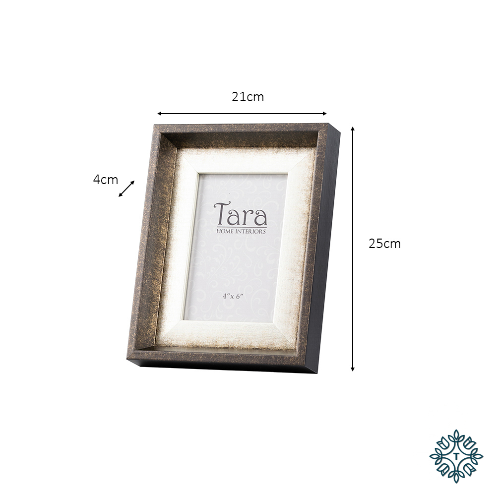 Abigail photo frame brown 4x6