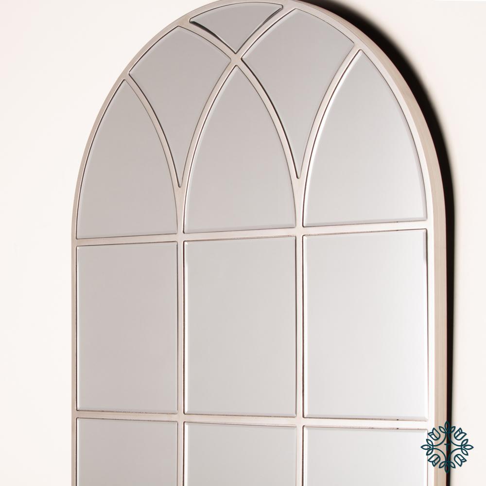 Palladian window mirror soft champagne 173cm