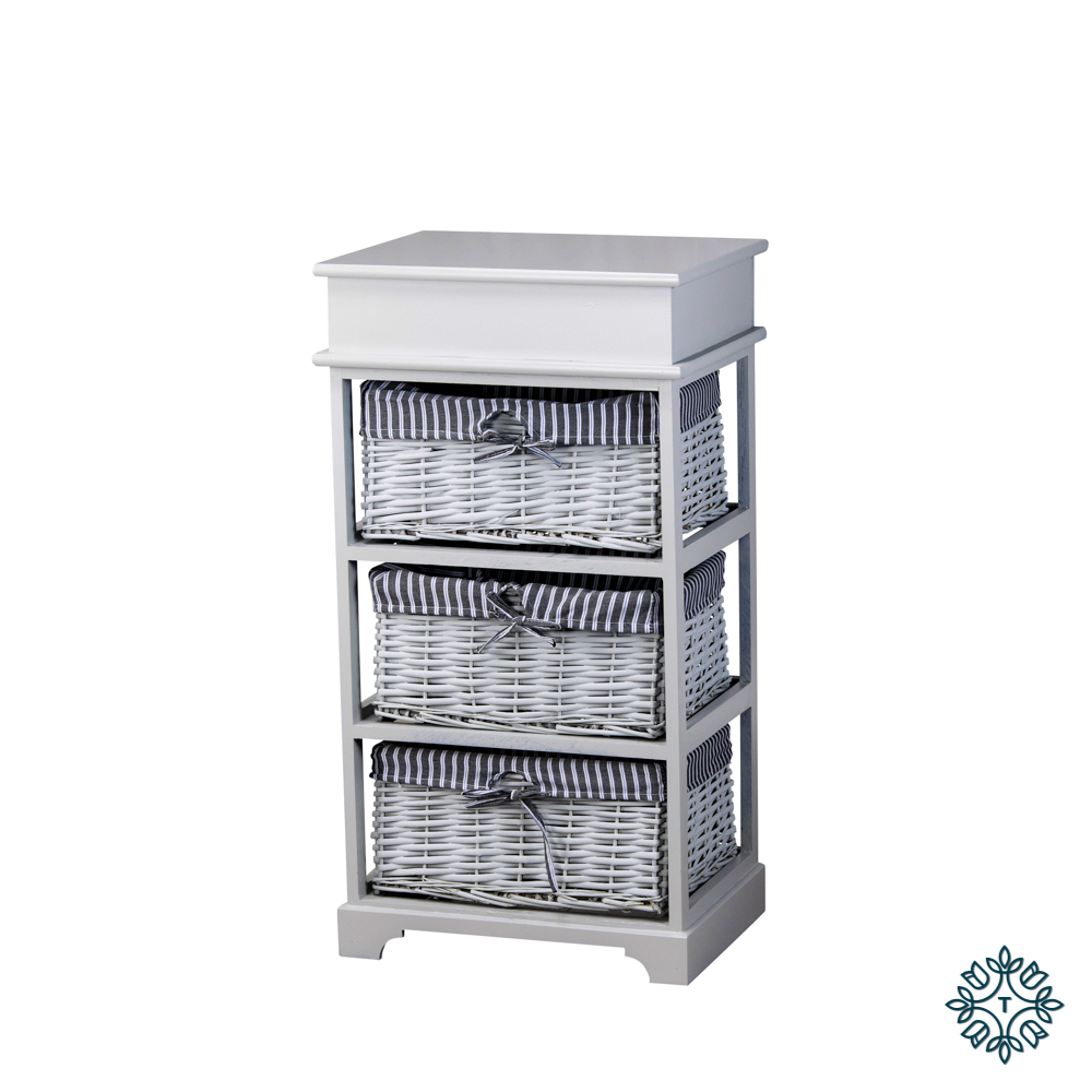 Chester 3 basket storage unit grey