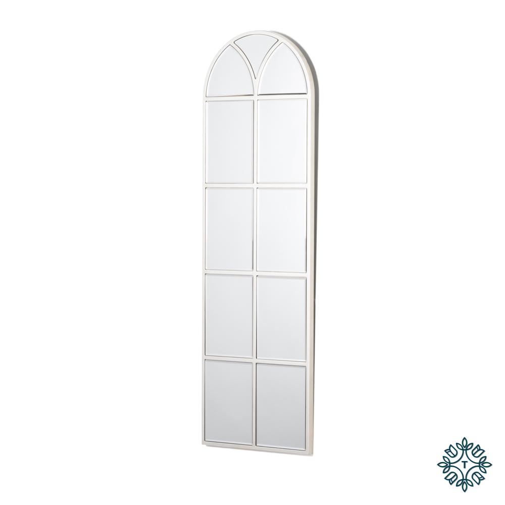 Slim palladian window mirror soft champ 119cm