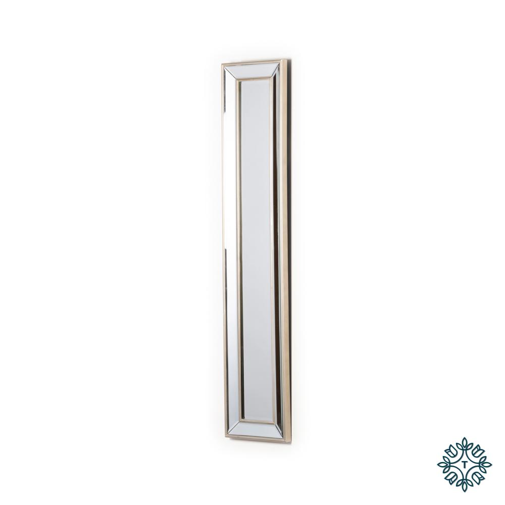 Reflections slim mirror antique champ 120 x 25cm