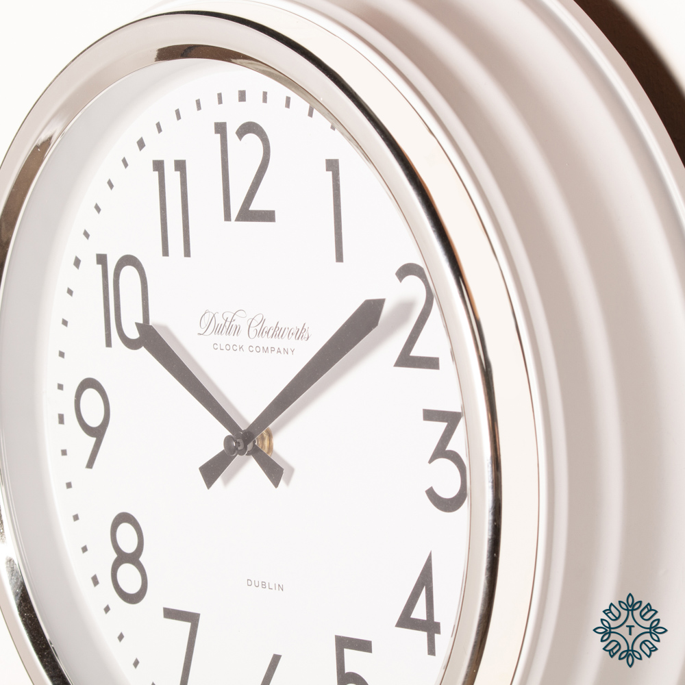 Retro café clock ivory gloss 35cm