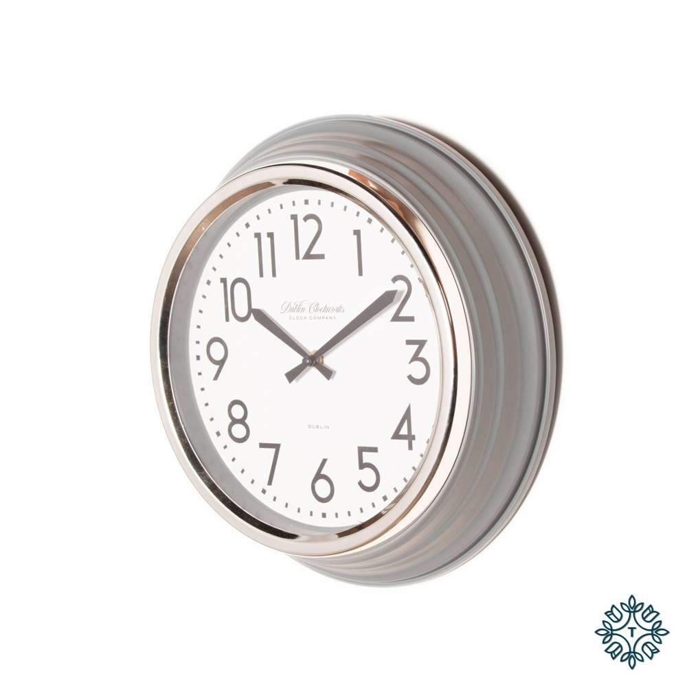 Retro cafÉ clock grey gloss 35cm