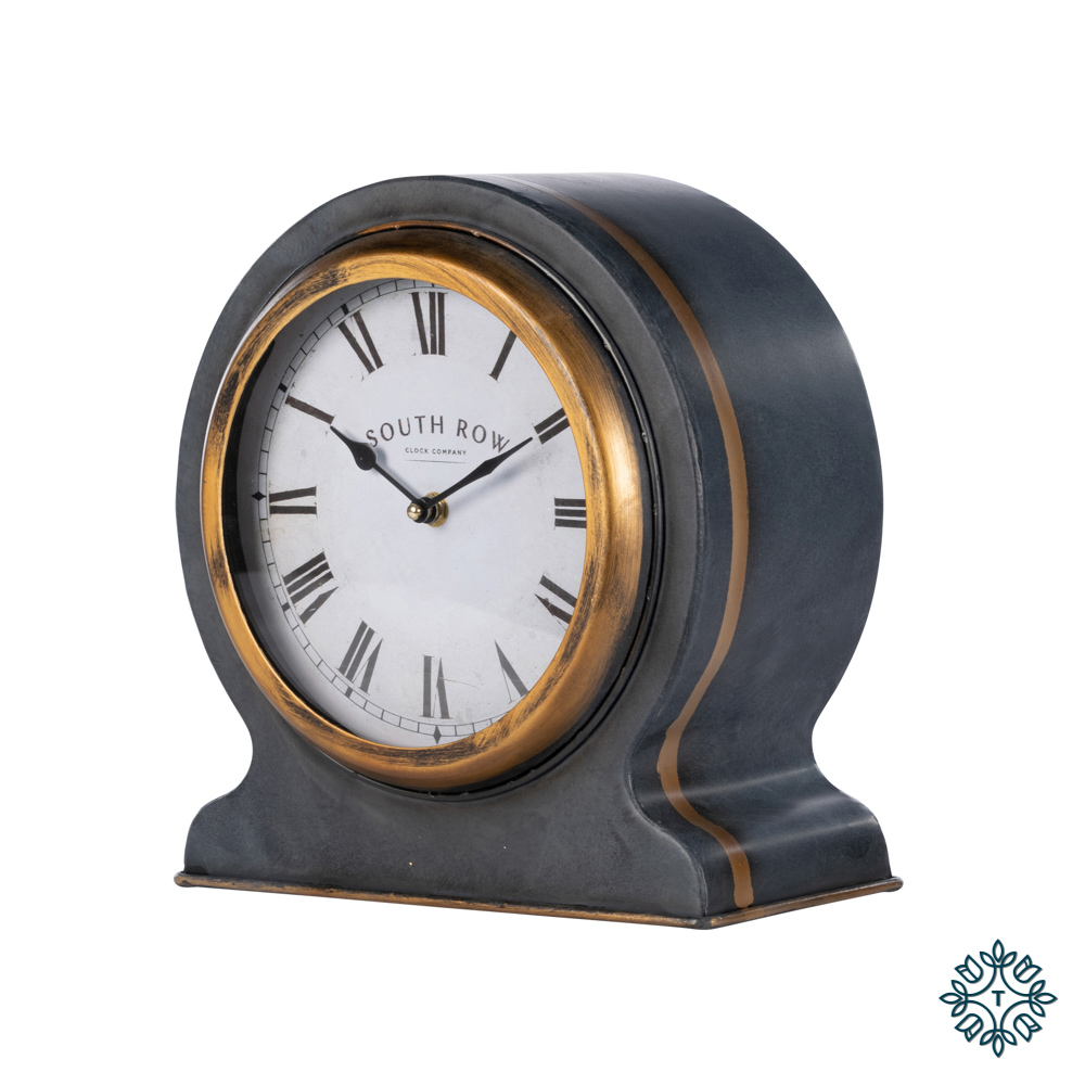 South row mantle clock blk/gld 28cm