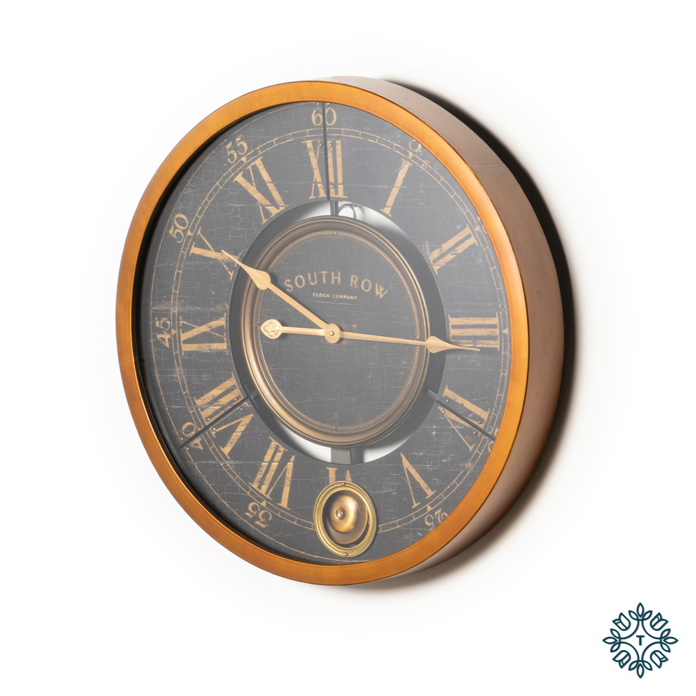 South row wall clock gold 61cm