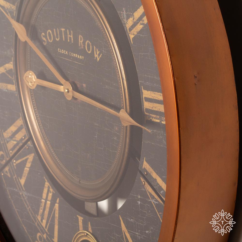 South row wall clock gold 61cm