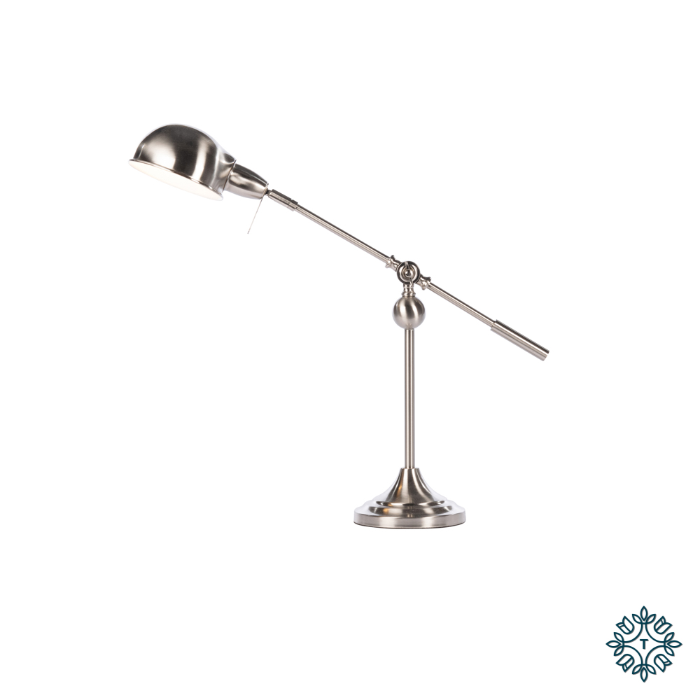 Enzo desk lamp satin silver 70cm