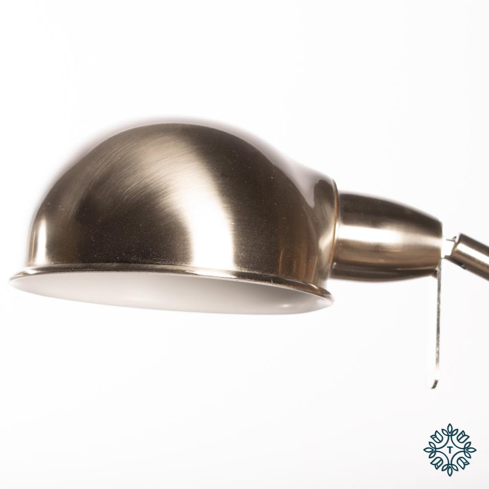 Enzo desk lamp satin silver 70cm
