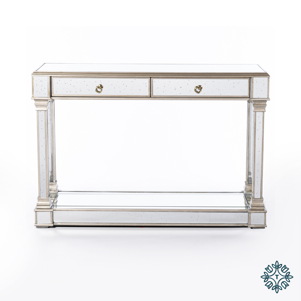 Varese aged mirror console table
