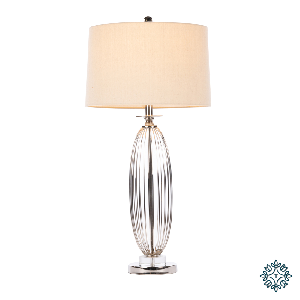 Cleo crystal satin table lamp