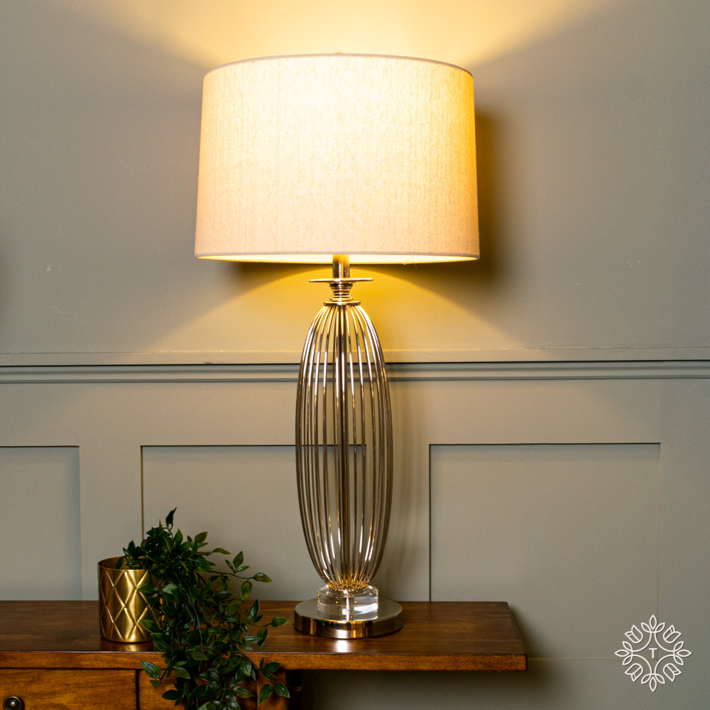 Cleo crystal satin table lamp