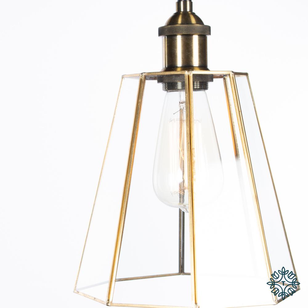 Alto geometric classic pendant brass