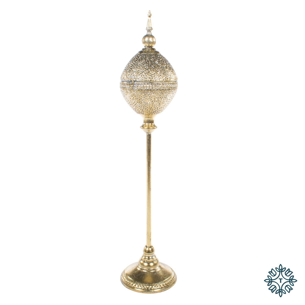 Sylvia globe tealight holder gold