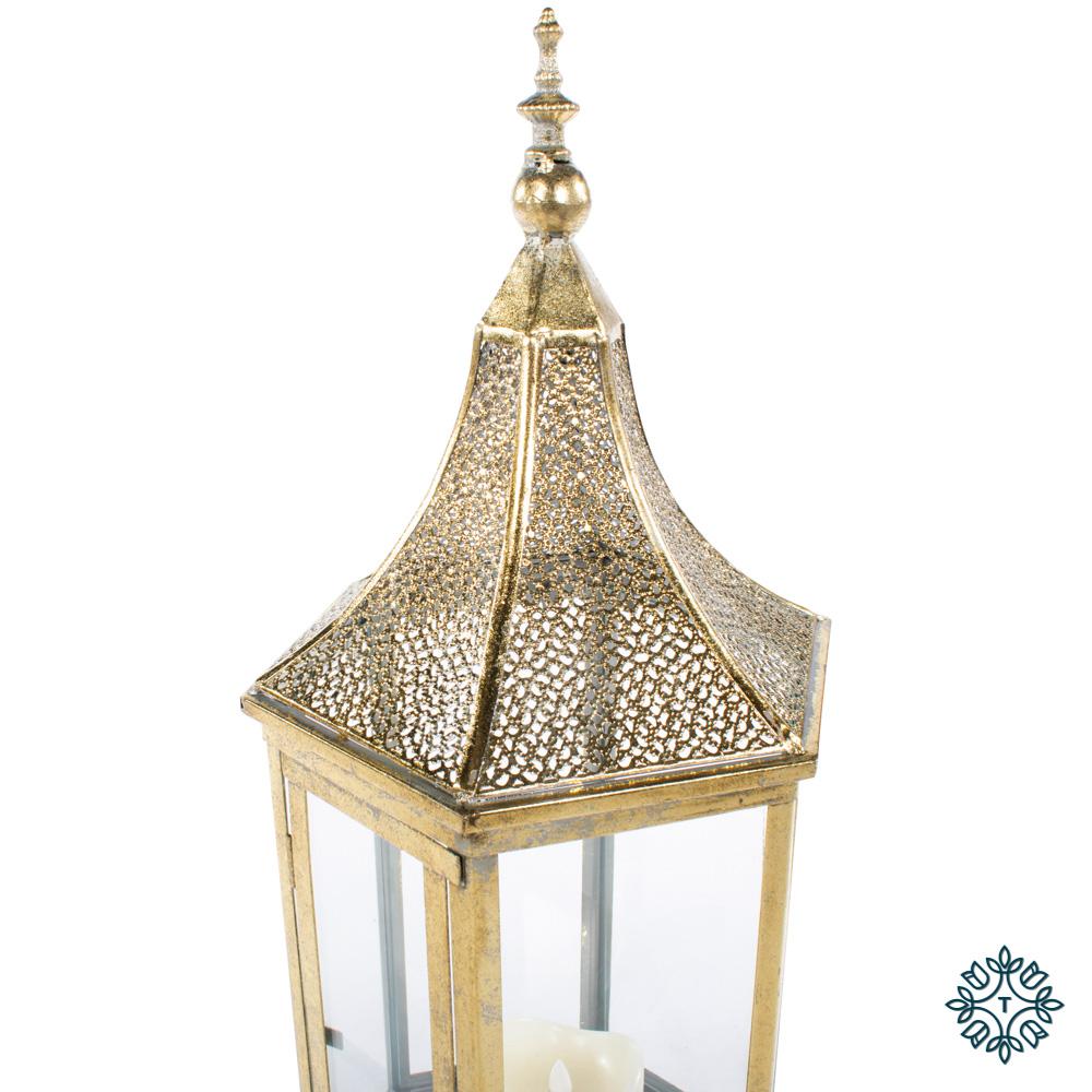 Sylvia hexagonal lantern gold