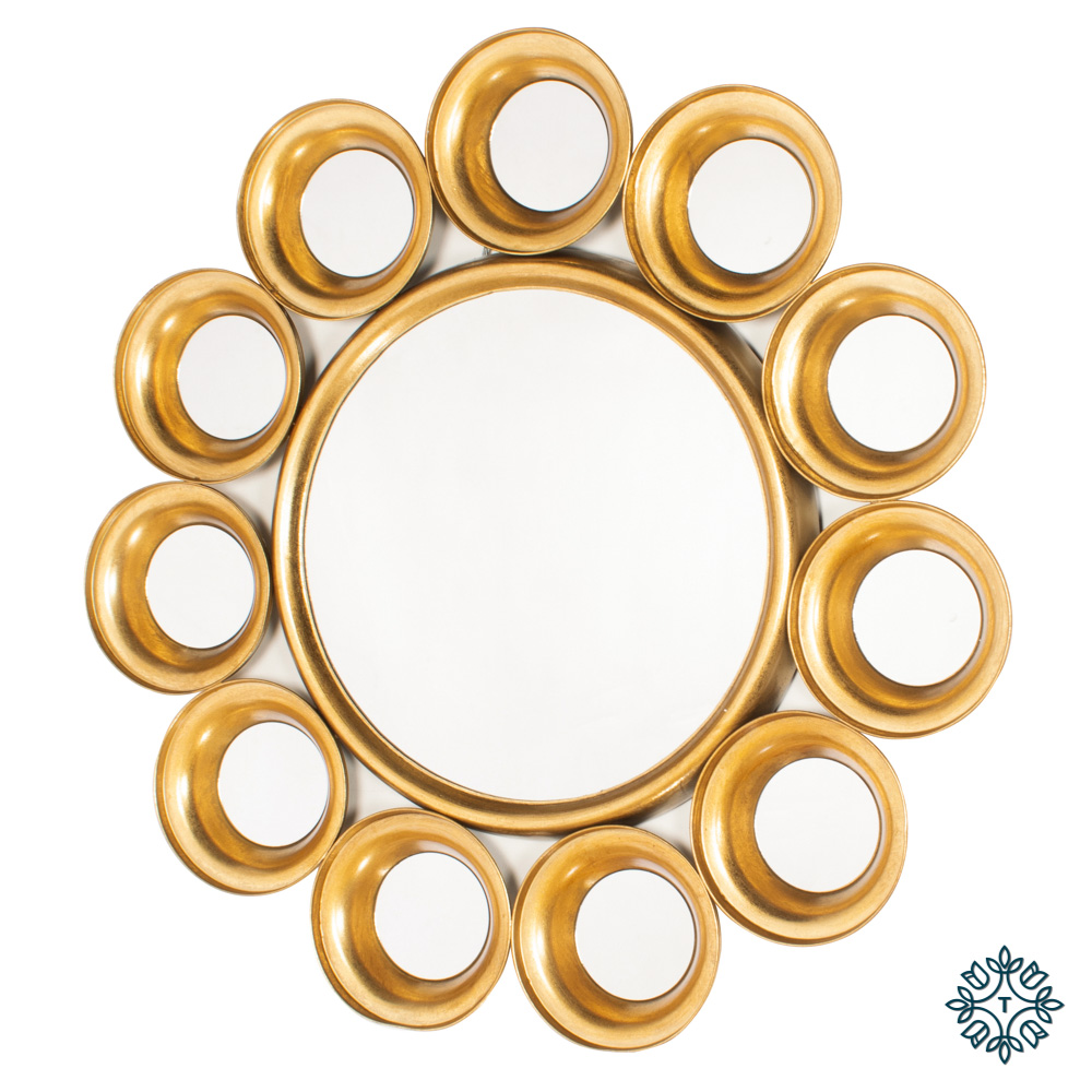 Harriet 12 circles mirror gold 81cm