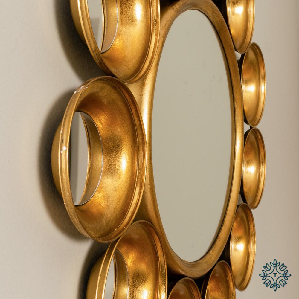 Harriet 12 circles mirror gold 81cm