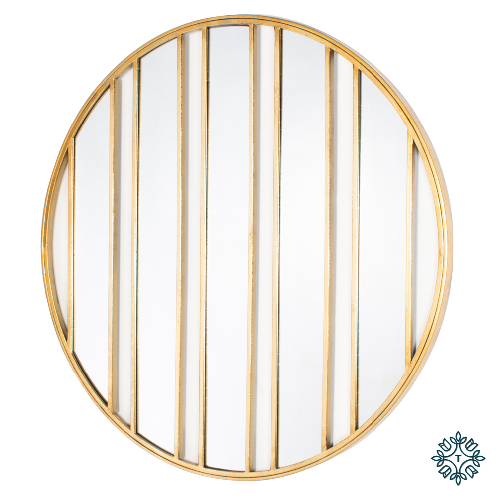 Harriet stripes wall mirror gold 92cm