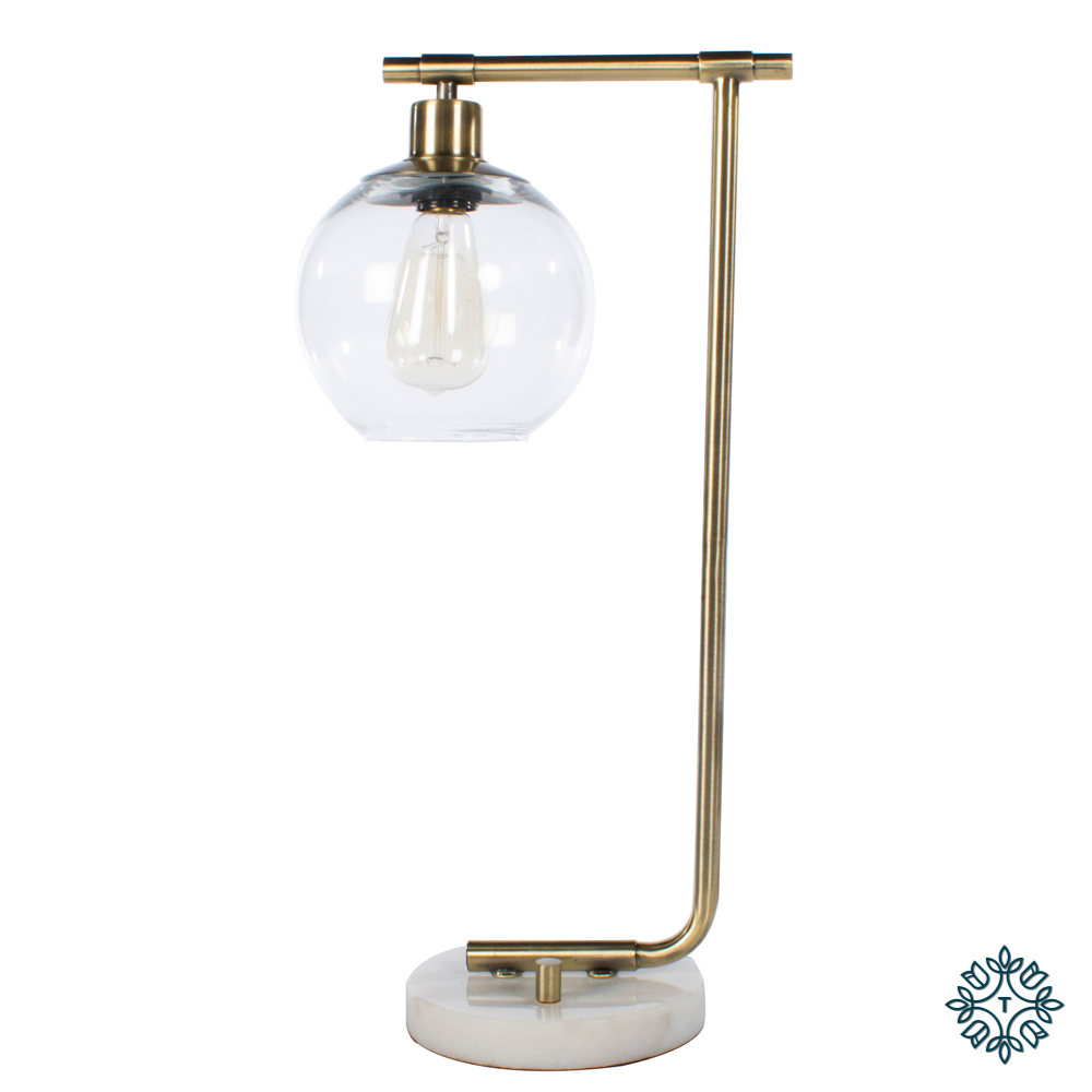 Globe table lamp marble/gold 55cm