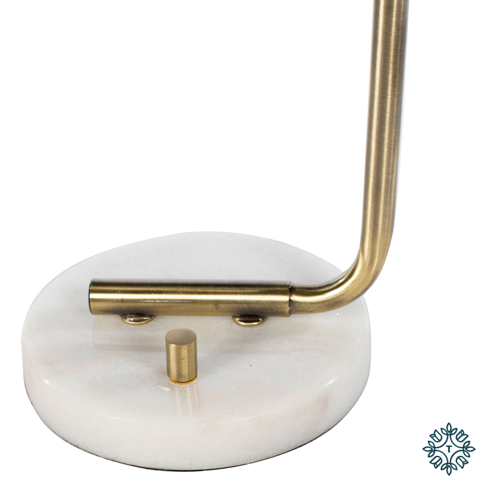 Globe table lamp marble/gold 55cm