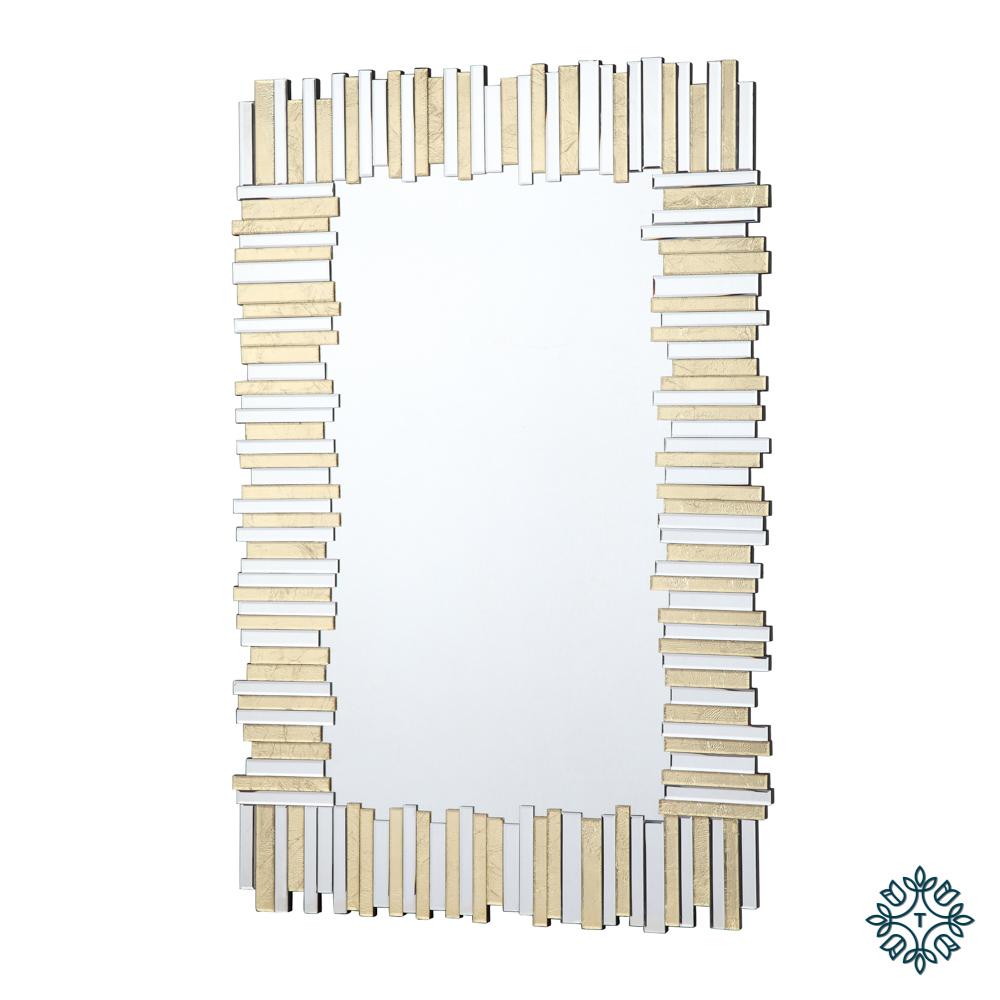 Ava mirror art linear gold large