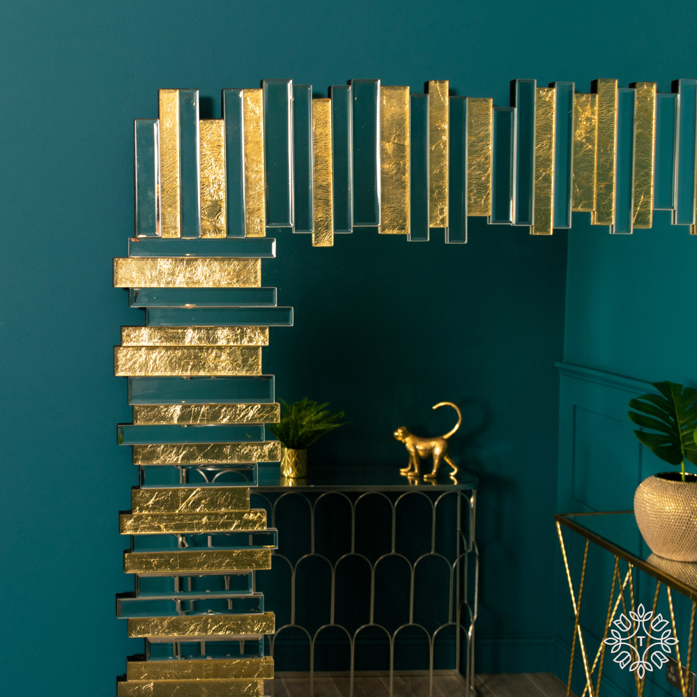Ava mirror art linear gold large