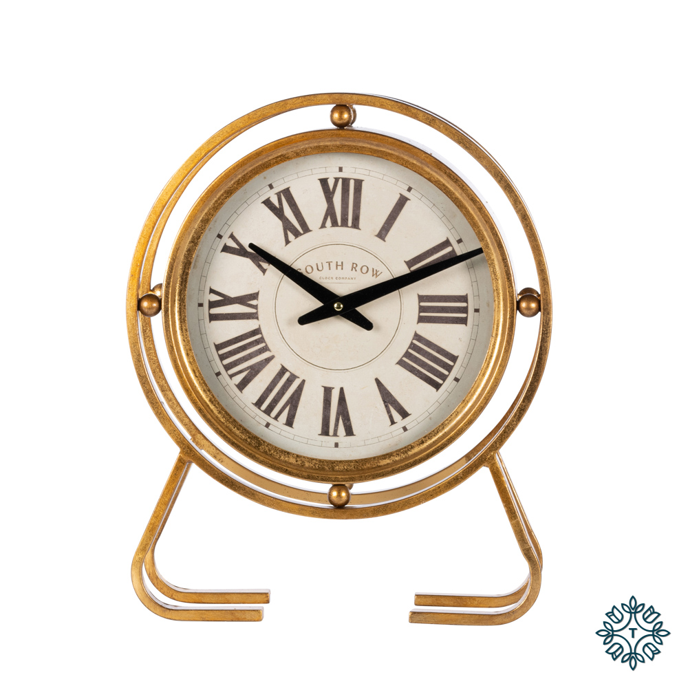Amelia vintage table clock gold