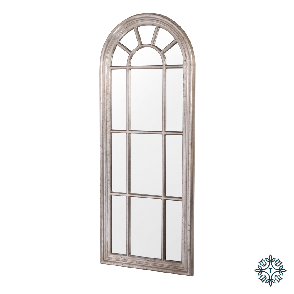Palladian window mirror large country champagne