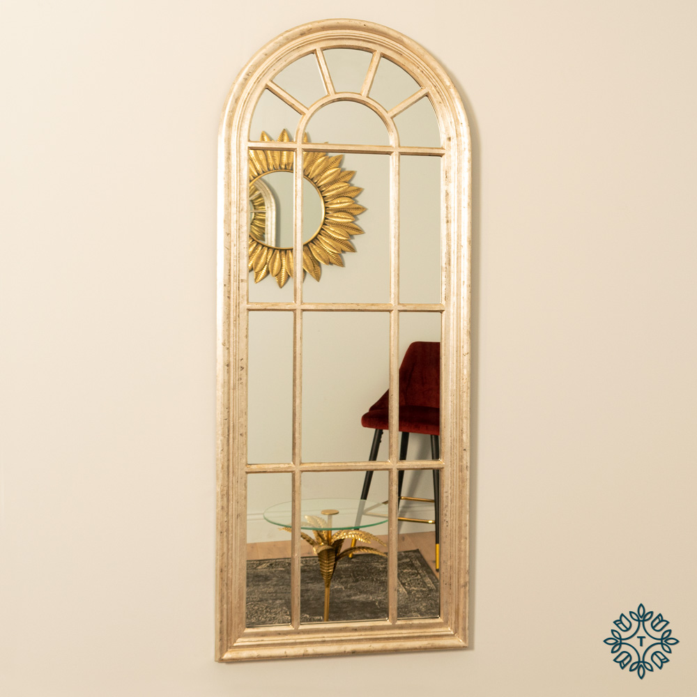 Palladian window mirror lrg country champagne