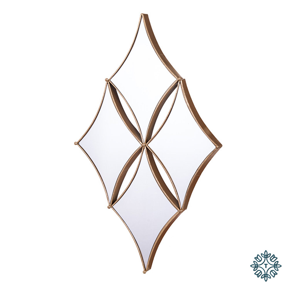 Penzance diamond 4 mirror gold
