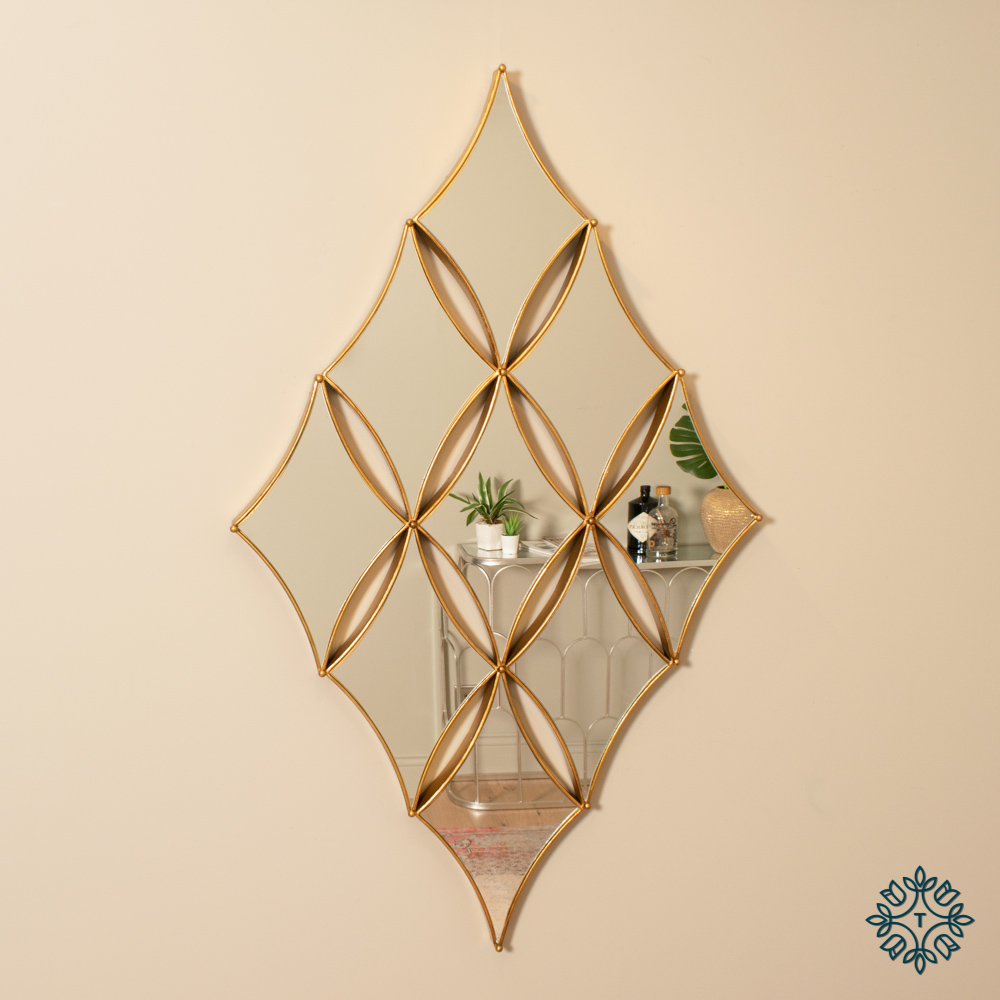 Penzance diamond 9 mirror gold