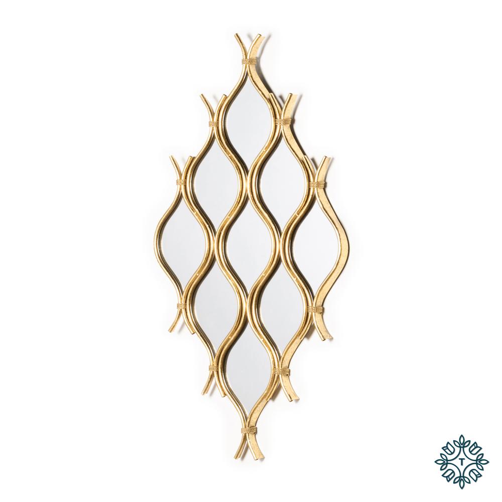 Wave 9 mirror cluster gold leaf