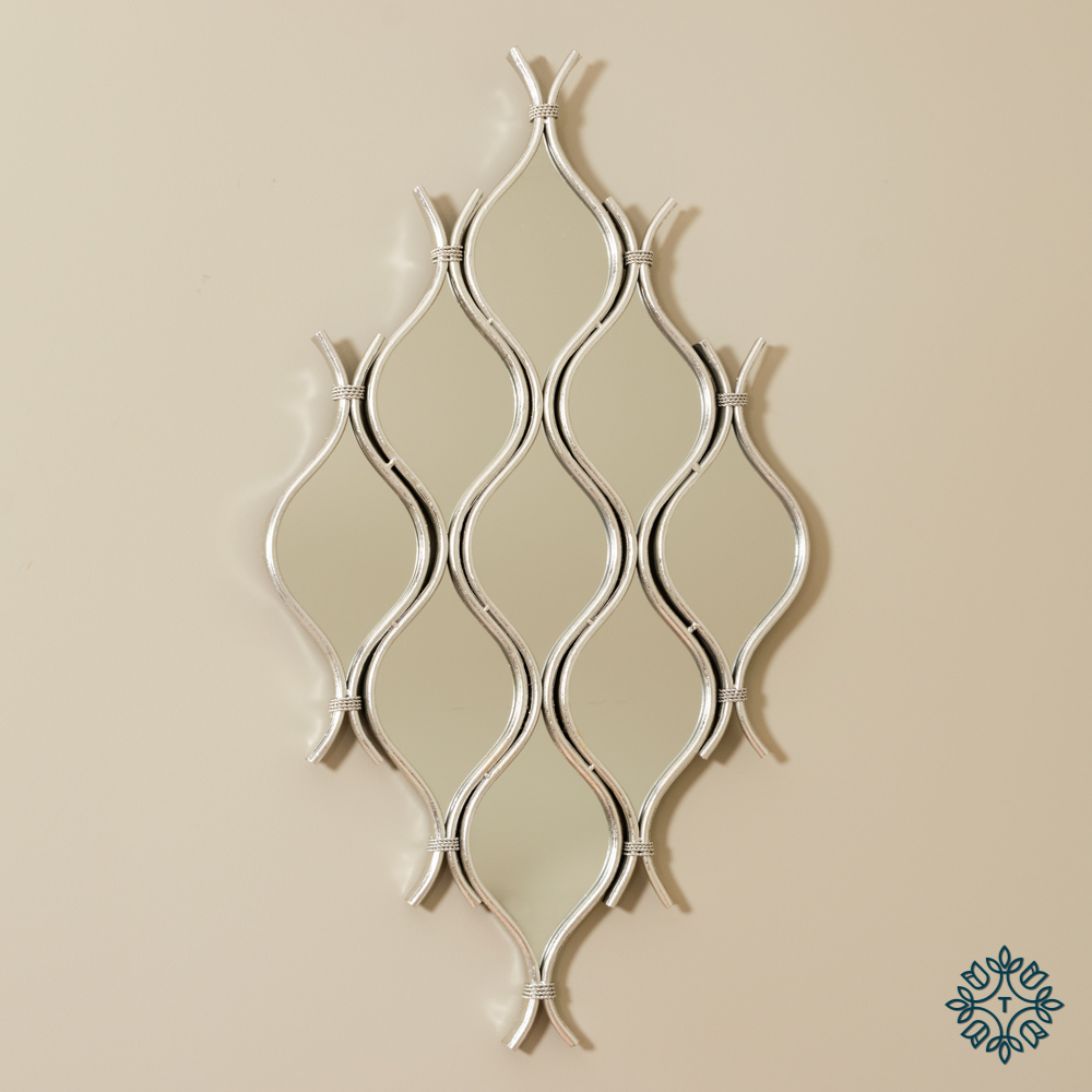 Wave 9 mirror cluster silver leaf