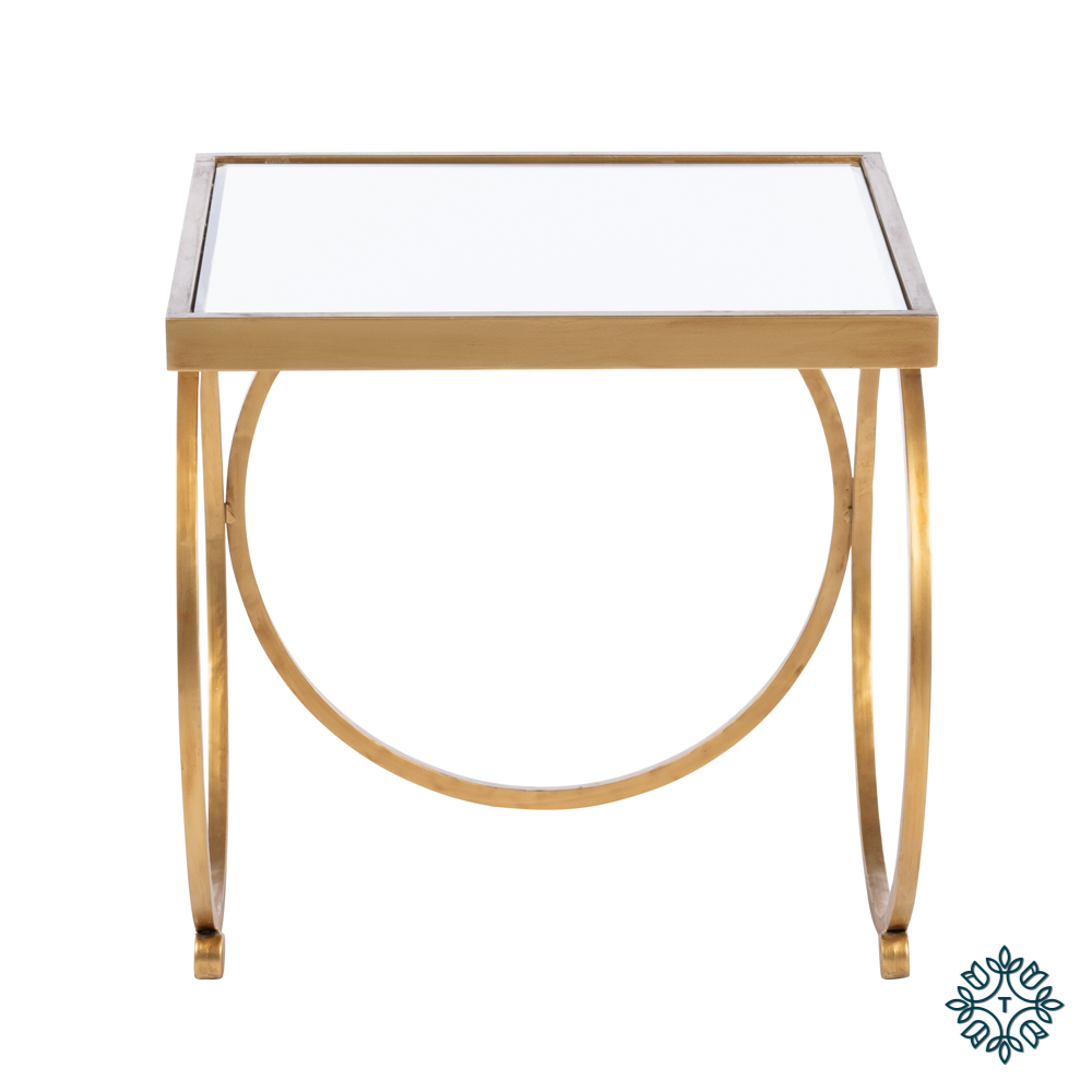 Winston set of two nesting table set gold
