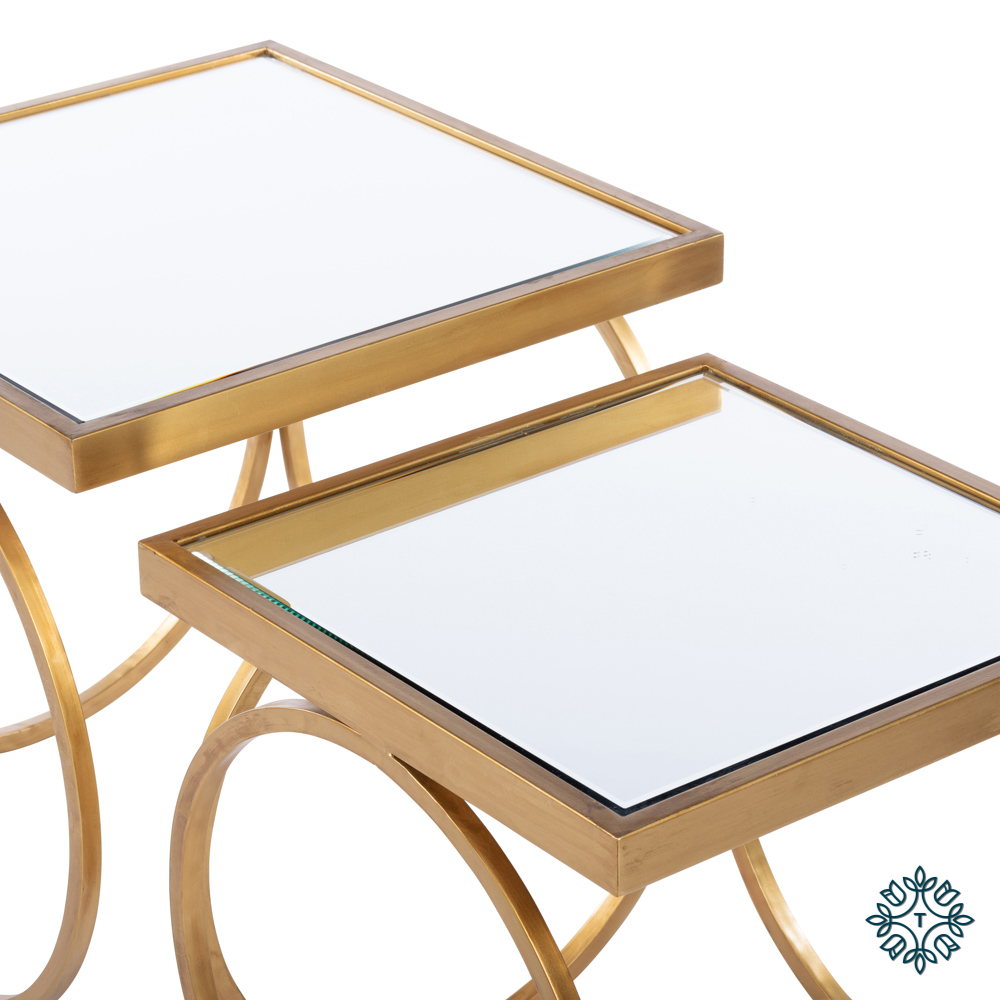 Winston s/2 nesting table set gold