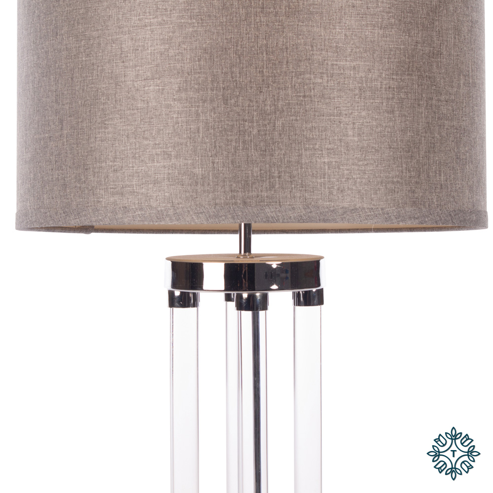 Venus table lamp textured grey shade 74cm