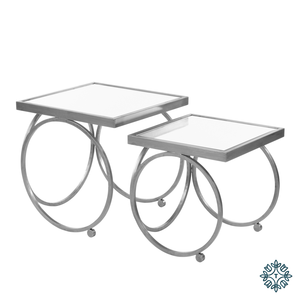 Winston s/2 nesting table set silver
