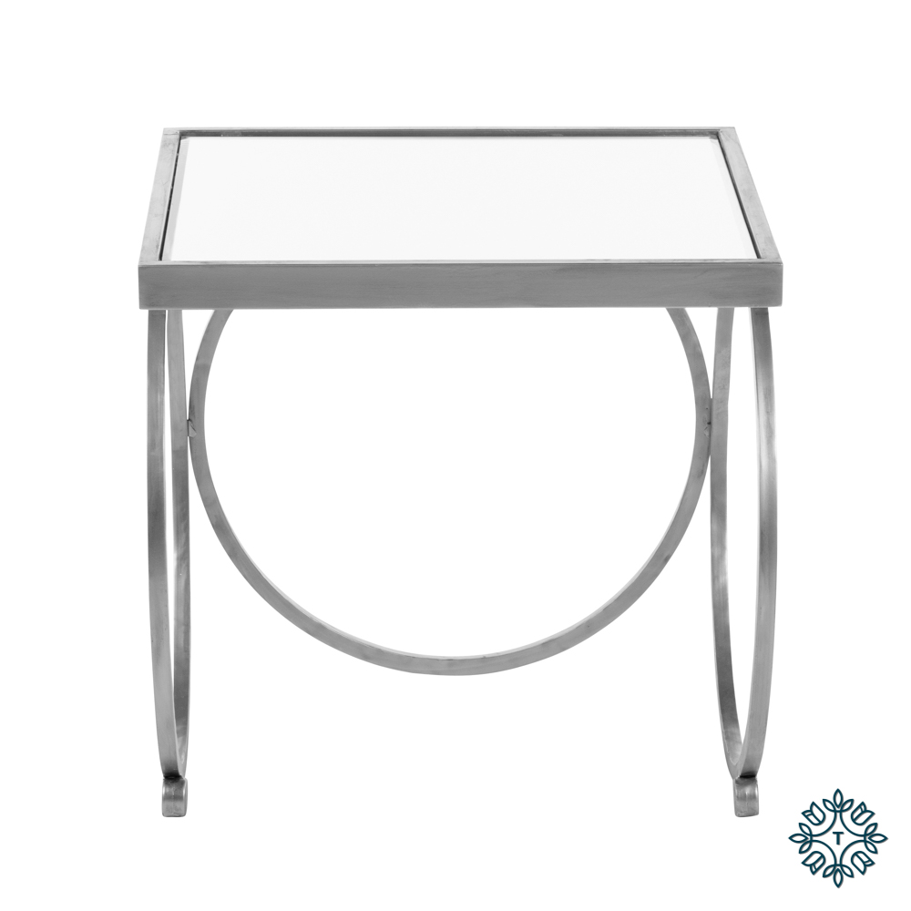 Winston set of two nesting table set silver