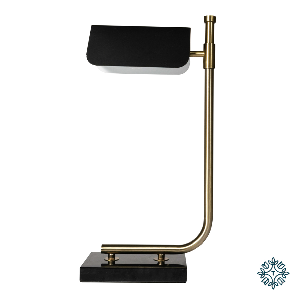 Carmen table lamp gold/black 51cm