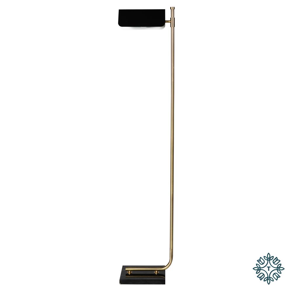 Carmen floor lamp gold/black 150cm