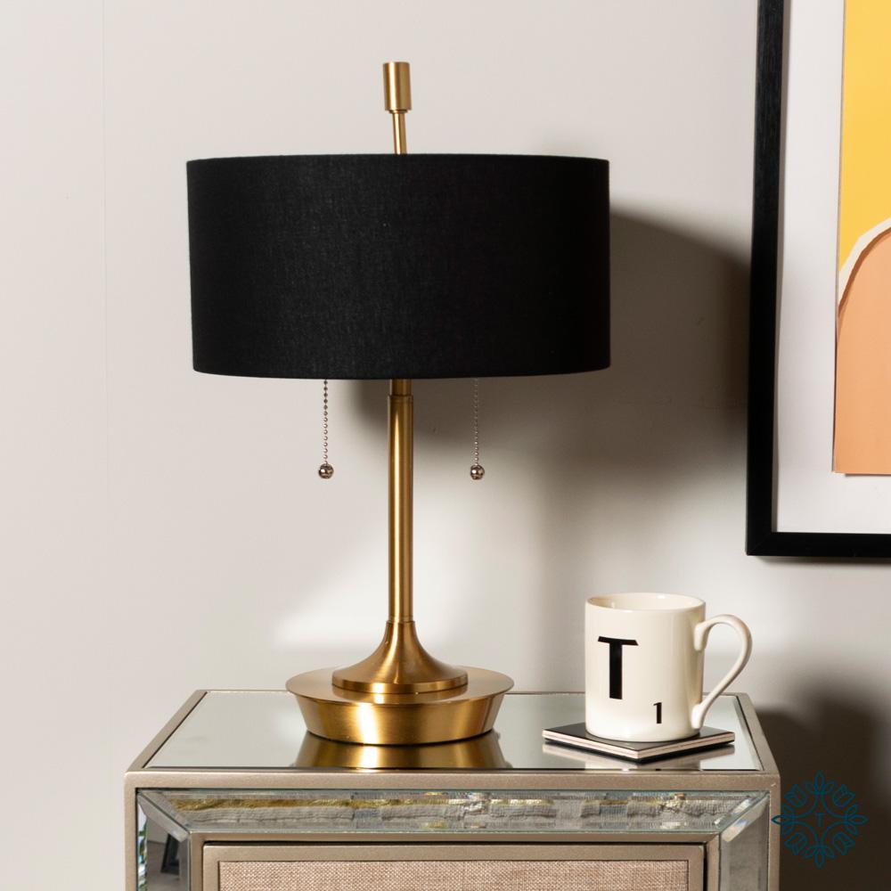 Elsa table lamp black/gold 48cm