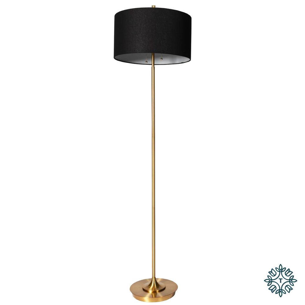 Elsa floor lamp black/gold 158cm