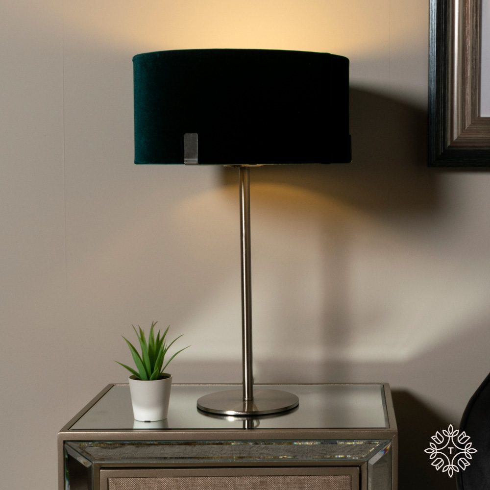 Charlotte table lamp teal 48cm