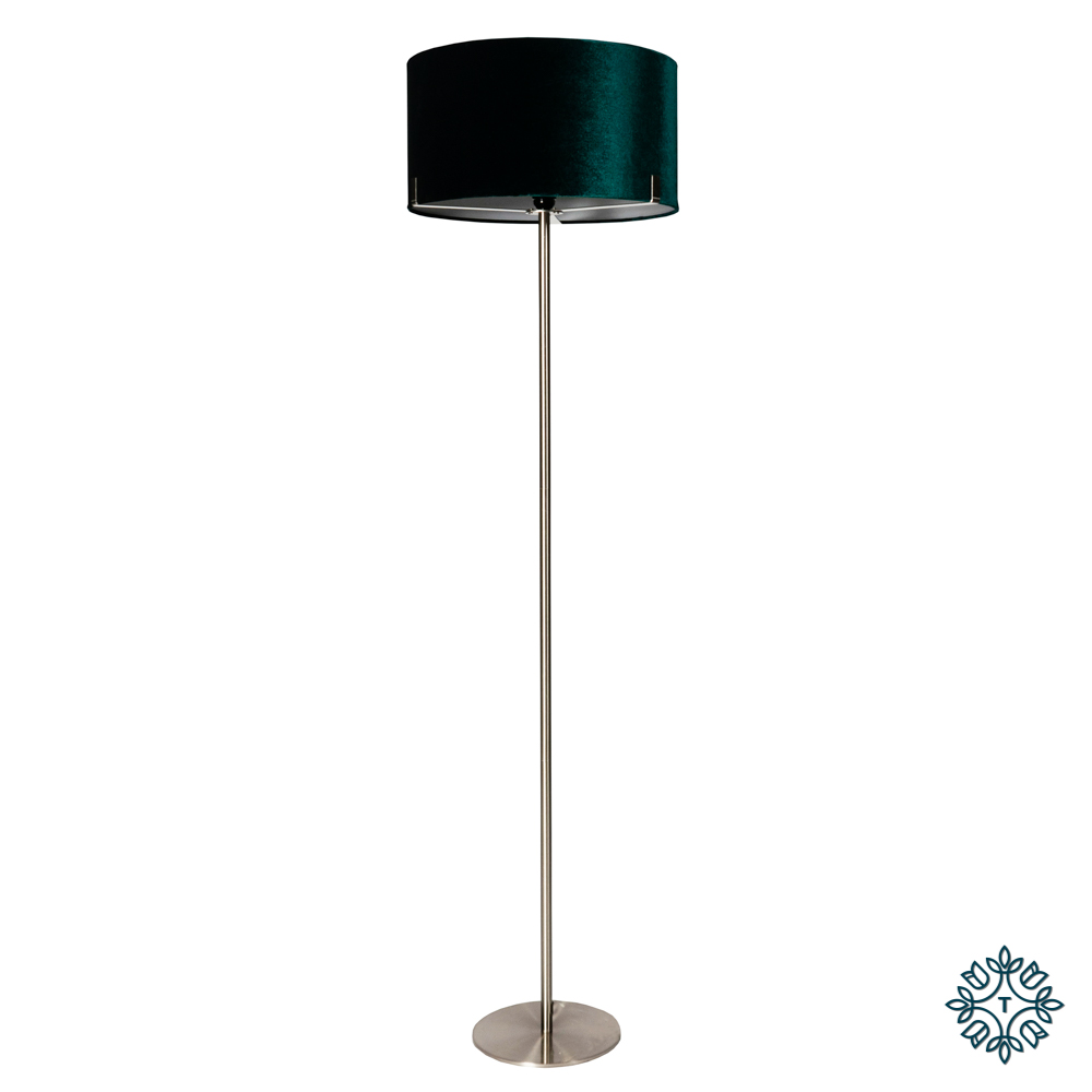 Charlotte floor lamp teal 158cm