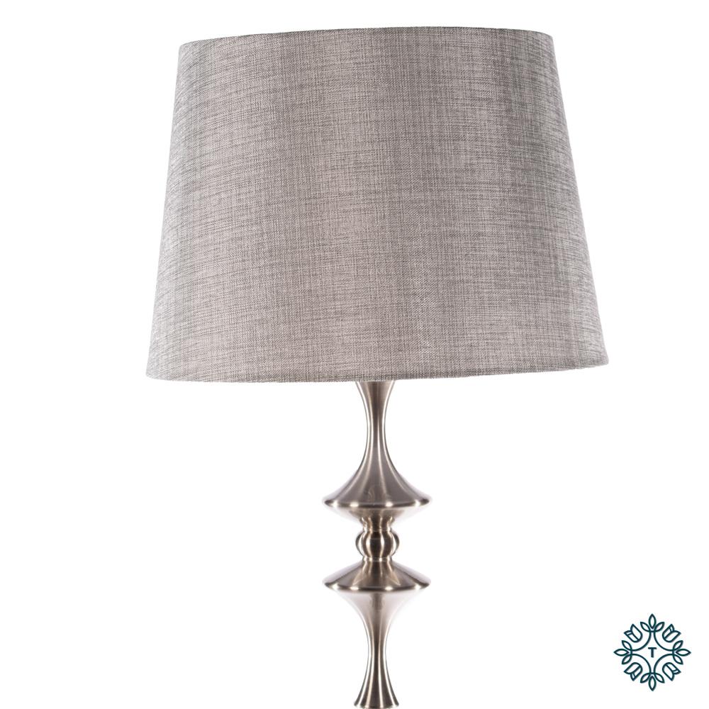 Mercury floor lamp satin silver 161cm