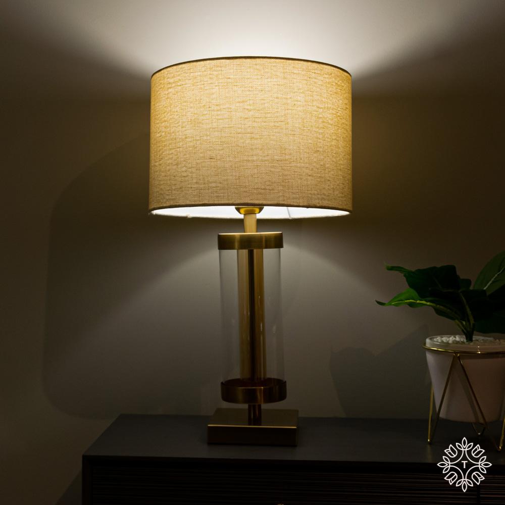 Jane glass cylinder lamp bronze/gold 54cm