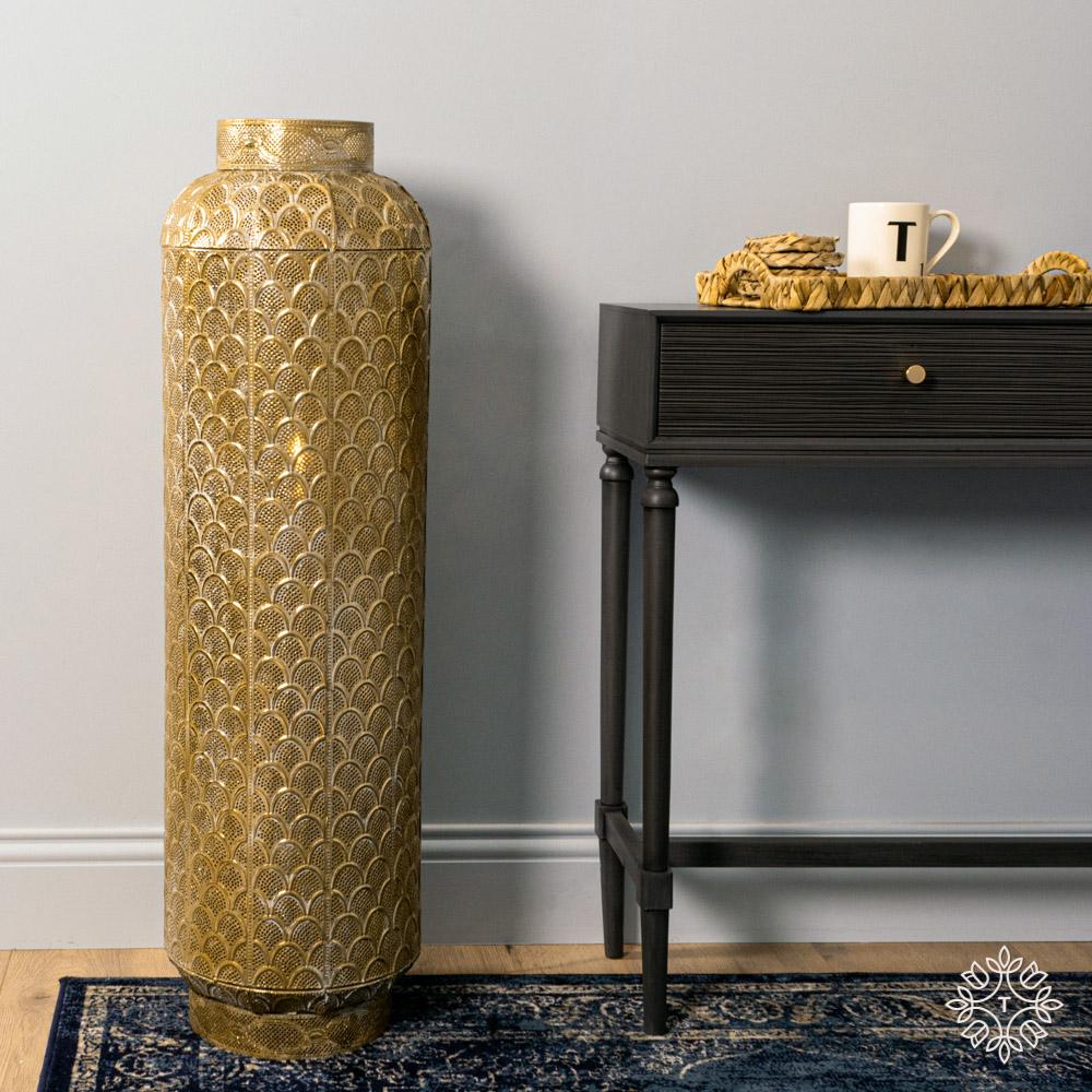 Casablanca floor lamp gold 100cm
