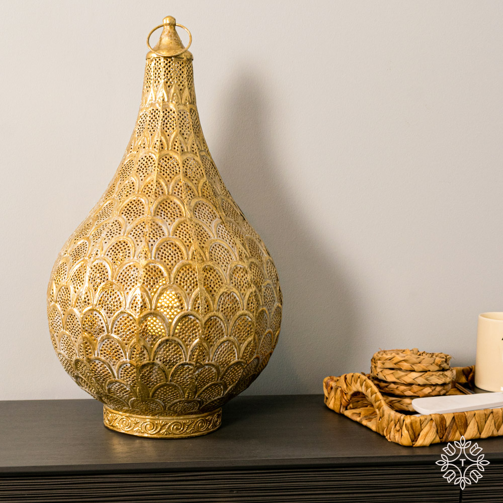 Casablanca table lamp gold 47cm